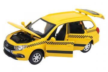 LADA Granta Cross Такси (свет, звук), желтый (1/24)