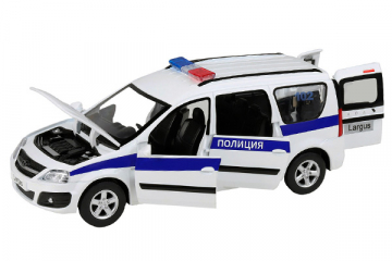 LADA Largus Полиция (свет, звук), белый/синий (1/24)