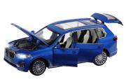 BMW X7 (свет, звук), синий (1/32)