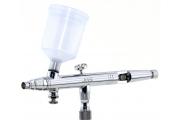 Аэрограф JAS 1157 (сопло конусное 0,3, Air Control), 2 емкости пластик 20-40 мл