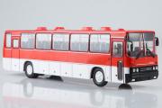 Автобус Икарус-250.59 междугородний, красный/белый (1/43)