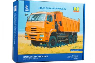 Сборная модель КАМАЗ-6522 (рейсталинг) самосвал 6х6 (1/43)
