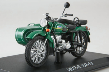 Мотоцикл ИМЗ-8.103-10 'Урал', зеленый (1/24)