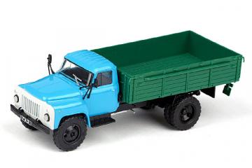 Горький-53 бортовой, голубой/зеленый (1/43)