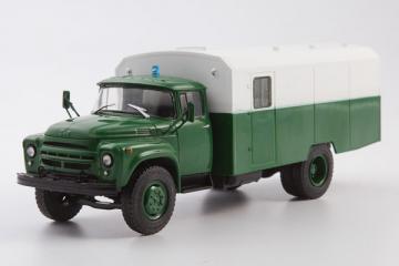 ЗИЛ-130Г-АЗ автозак, зеленый/белый (1/43)
