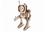 Конструктор 'Робот Флэш' 140х75х60 (54 дет.). Дерево. Клей ПВА. Наждачка