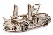 Конструктор 'Автомобиль Спорткар Скат' 310х160х80 (207 дет). Дерево. Клей ПВА. Наждачка