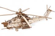 Конструктор 'Вертолет Ночной охотник' 540х420х155 (241 дет.) Дерево. Клей ПВА. Наждачка