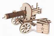Конструктор 'Пулемет Максим' 150x57x70 (50 дет). Дерево. Наждачка