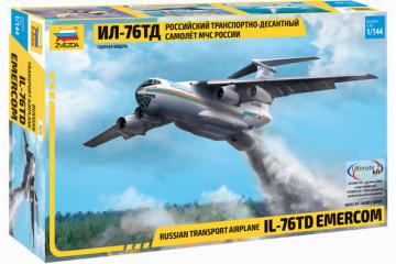 Самолет Ил-76ТД МЧС транспортно-десантный (1/144)