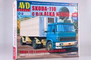 Сборная модель Skoda-110 с полуприцепом ALKA N13CH (1/43)